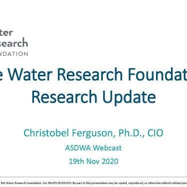 The Water Research Foundation (WRF) 2020 Research Update