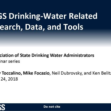 USGS Drinking Water Related Research, Data, and Tools