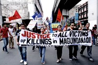 Youth groups from different schools and communities in Manila marched to demand accountability and justice from the Arroyo administration for the politically-motivated killing of more than 60 people in Maguindanao.