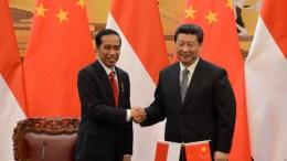 Indonesian President Joko Widodo and Chinese Premier Xi Jinping