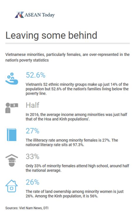 infographic depicting Vietnamese ethnic minority figures