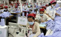 Factory workers in Cambodia
