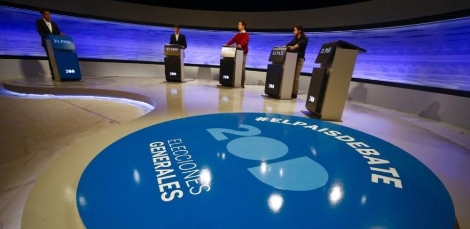 Hoy primer debate electoral entre Pedro Sánchez, Albert Rivera y Pablo Iglesias