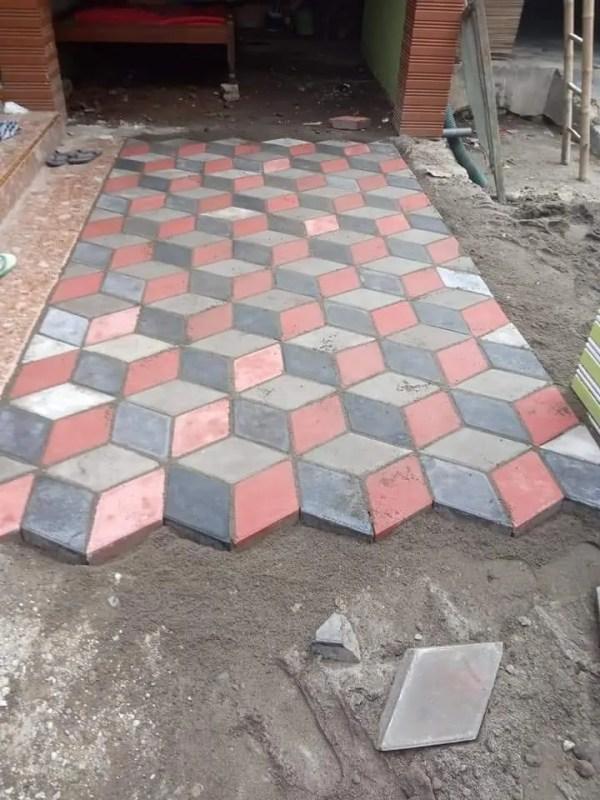 jenis paving block 3d