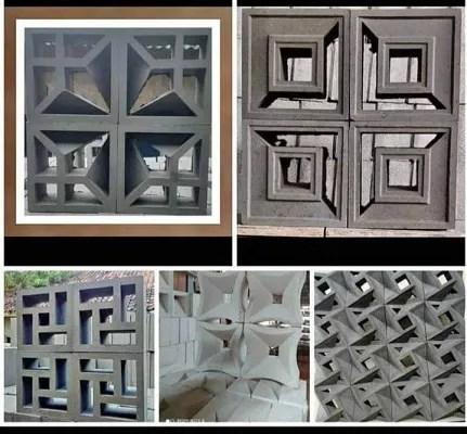 model roster beton kotak