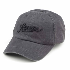 picture of stonewashed gray baseball cap with Asenne text in front