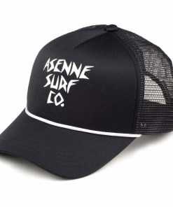 picture of black Asenne trucker cap