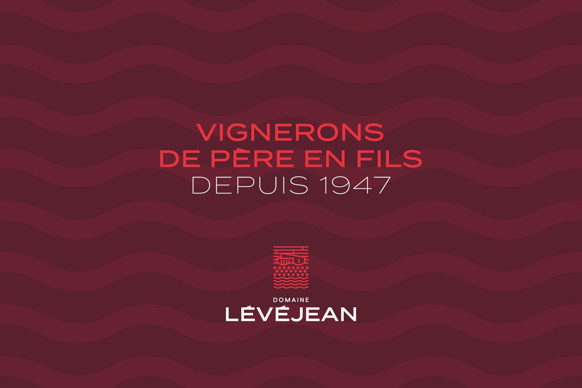 CCréation des étiquettes du Domaine Lévéjean