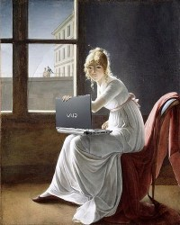 Woman with Vaio