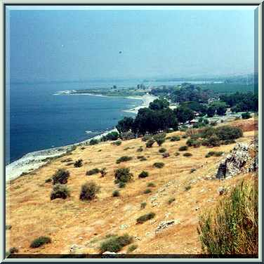 A lookout at western shore of Lake Kinneret near En Gev. The Middle East