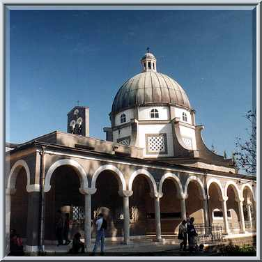 Church of Beatitudes in Tabgha near Lake Kinneret. The Middle East