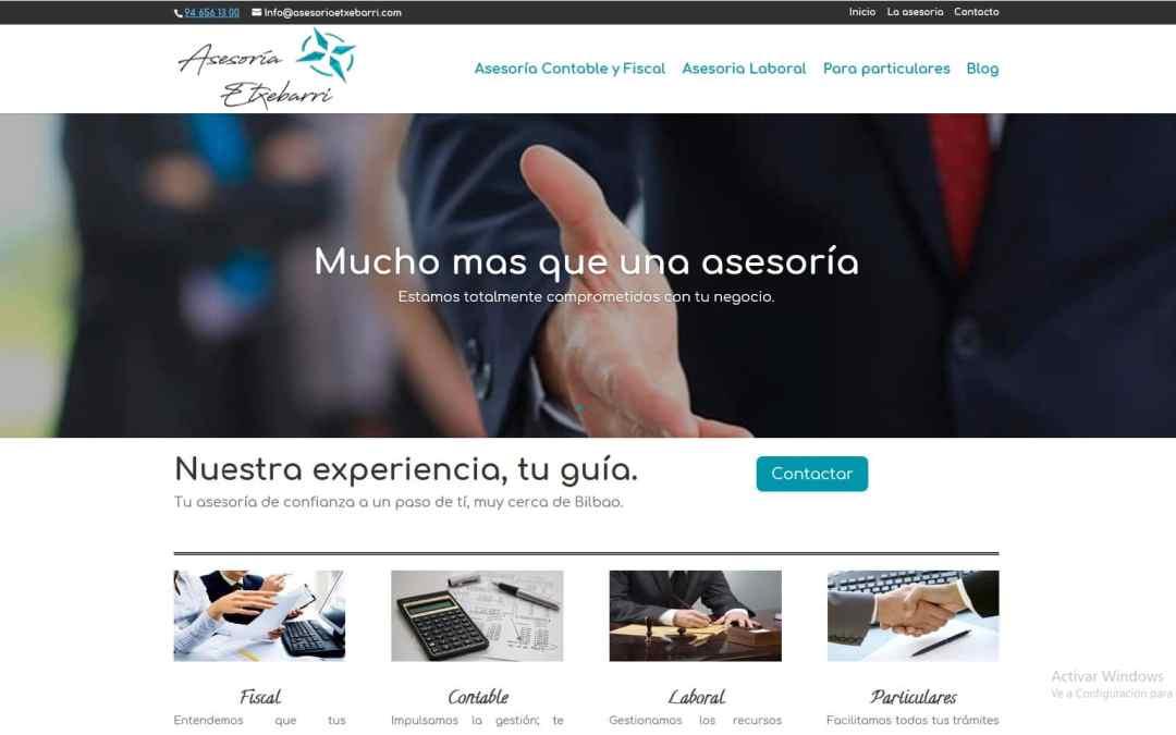 Asesoría Etxebarri tiene nueva web