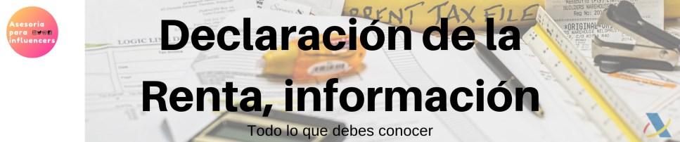informacion sobre declaracion de la renta