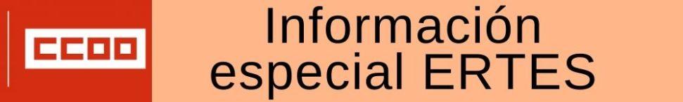 Comisiones obreras informa sobre los ertes