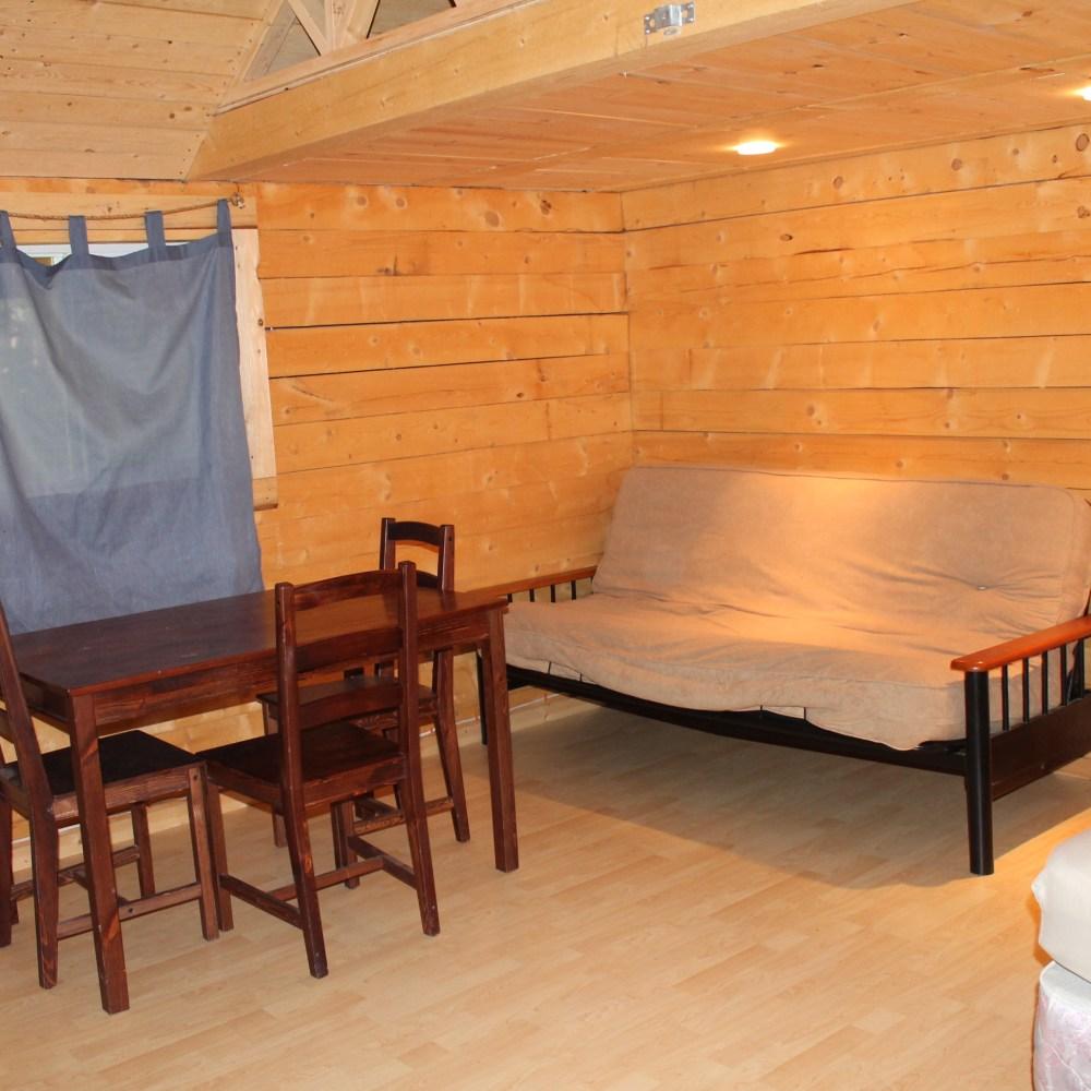 Large cabin interior 8