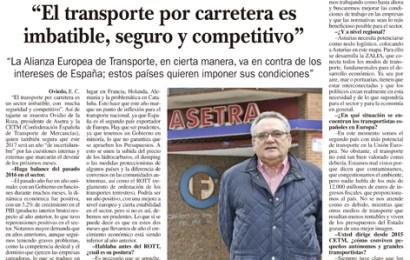 """""""El transporte por carretera es imbatible, seguro y competitivo"""""""