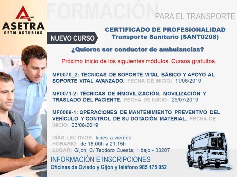NUEVO CURSO: Transporte sanitario