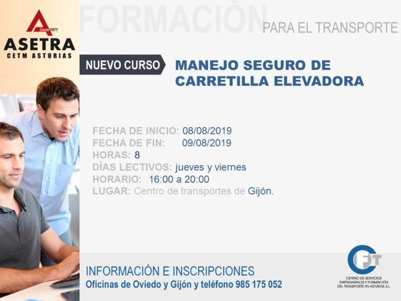 Próximo curso a ejecutar de Manejo Seguro de Carretilla Elevadora