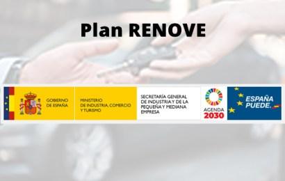 Las ayudas del PLAN RENOVE podrán solicitarse a partir del próximo 20 de octubre