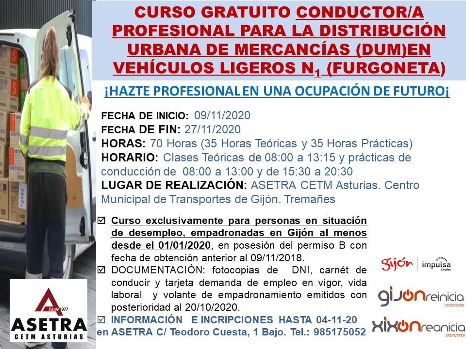 CURSO ASETRA conductor profesional