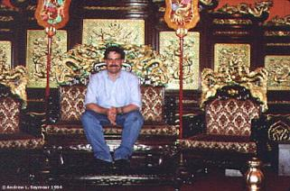 Sitting in the Emperor's chair