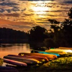 Canoes at Super Moon Rise 2013 - 03
