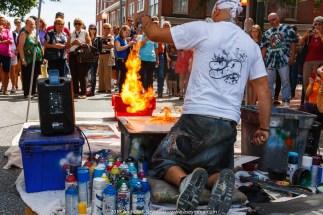 Spray Paint Artist + Fire!