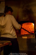 Pizza at the 3rd Annual Fire and Wine Festival at Black Walnut Winery.