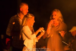Enjoying marshmallows at the 3rd Annual Fire and Wine Festival at Black Walnut Winery.