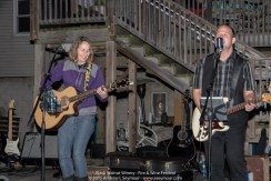 Images of Neal & Carolyn Pomerantz singing during the 3rd Annual Fire and Wine Festival at Black Walnut Winery.