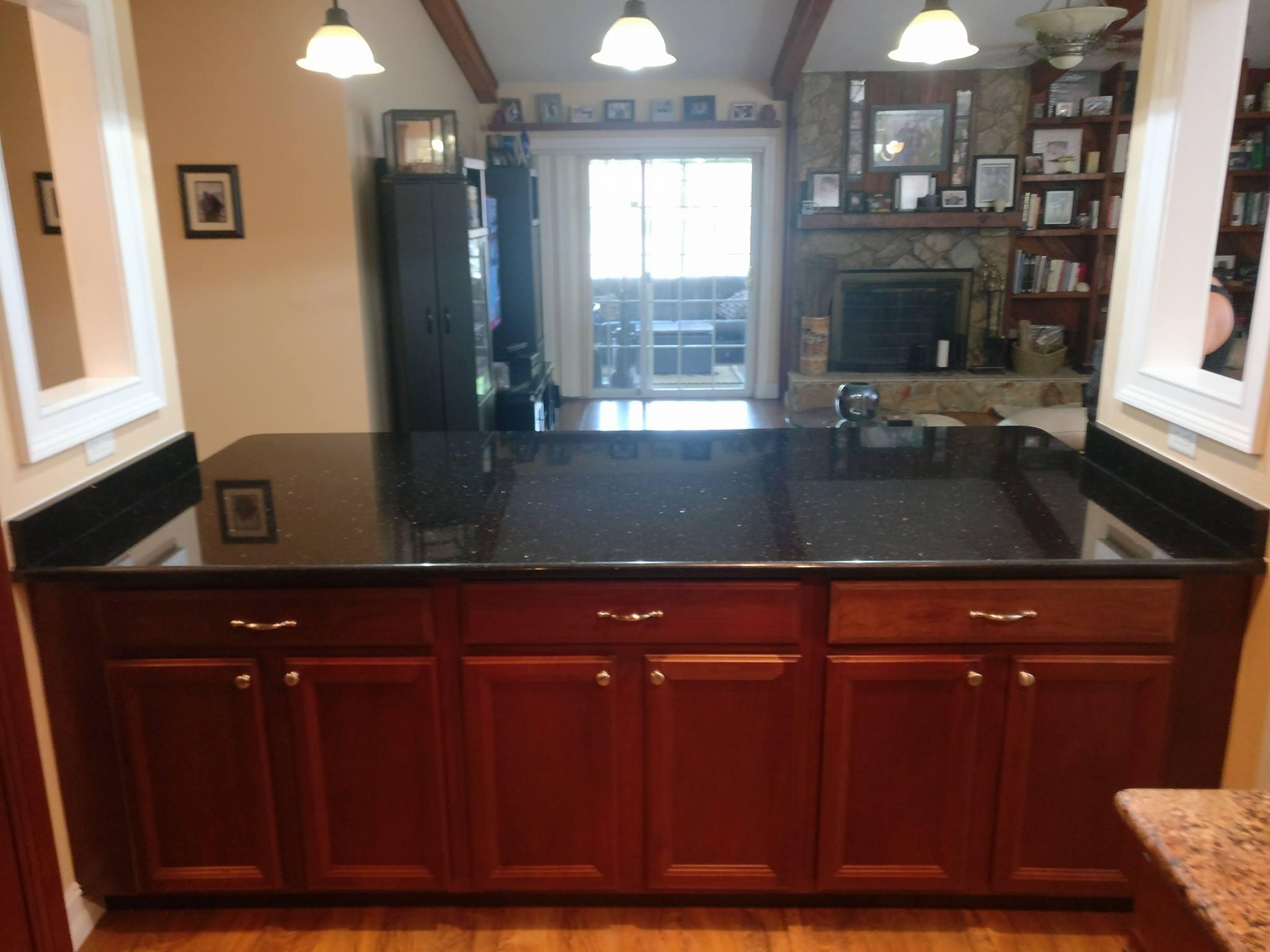 Black Galaxy Granite Countertop Kitchen Brandon