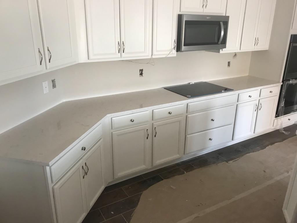 Cambria Torquay quartz kitchen countertop installation in Tampa Fl