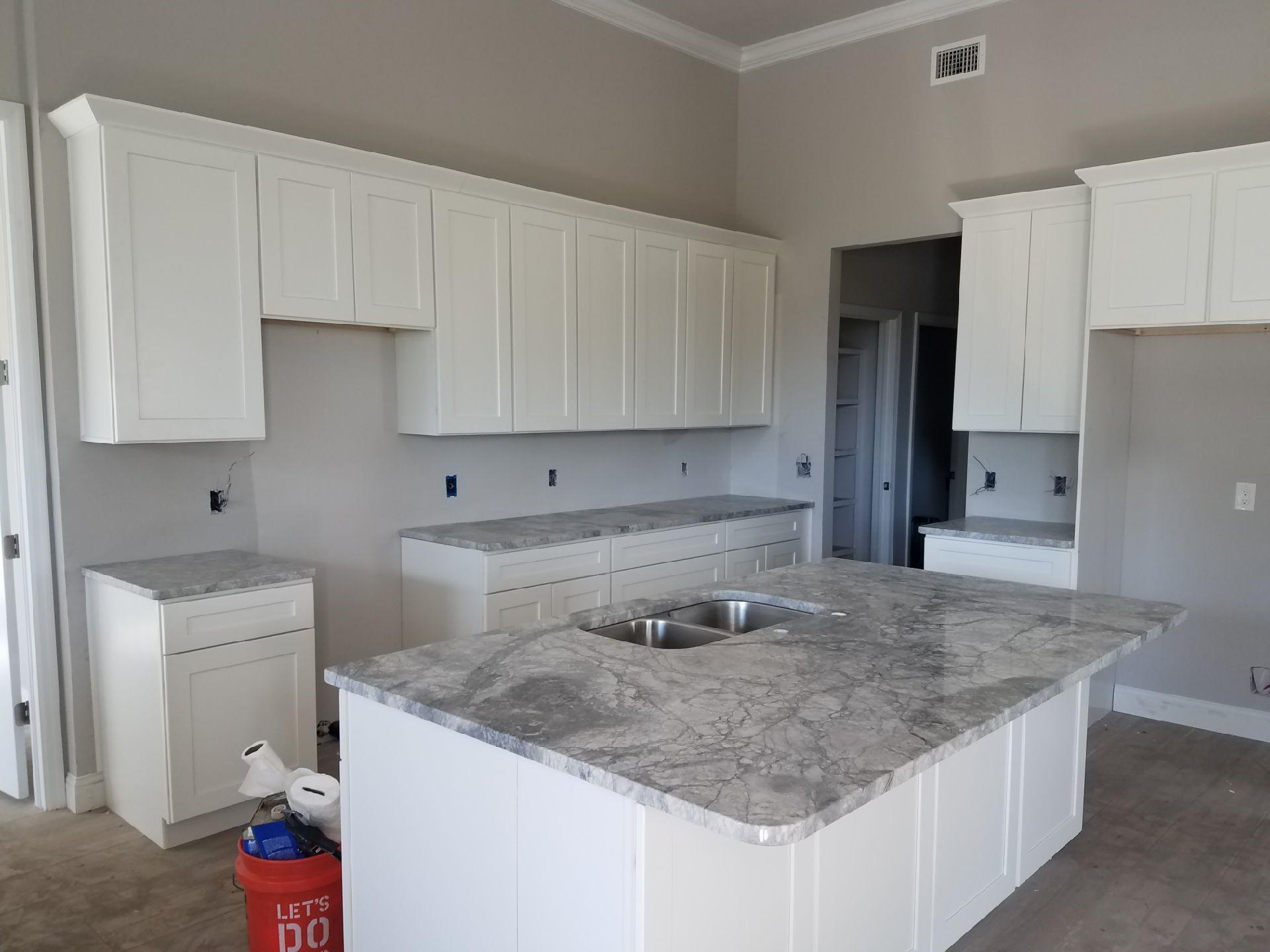 Super White Quartzite Kitchen Counter Tops In Valrico Florida