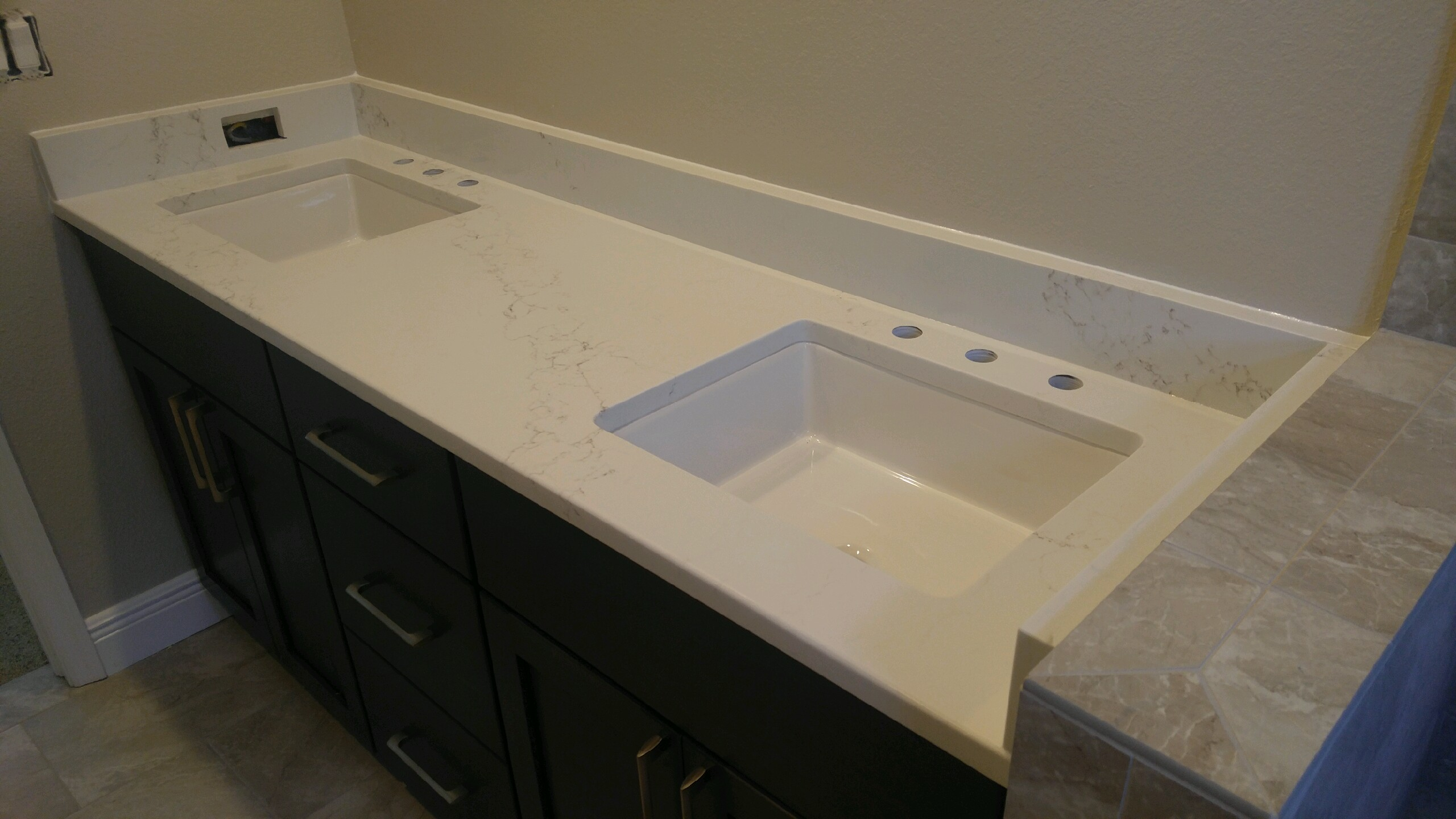 pompeii misterio quartz bathroom vanity countertop remodel in