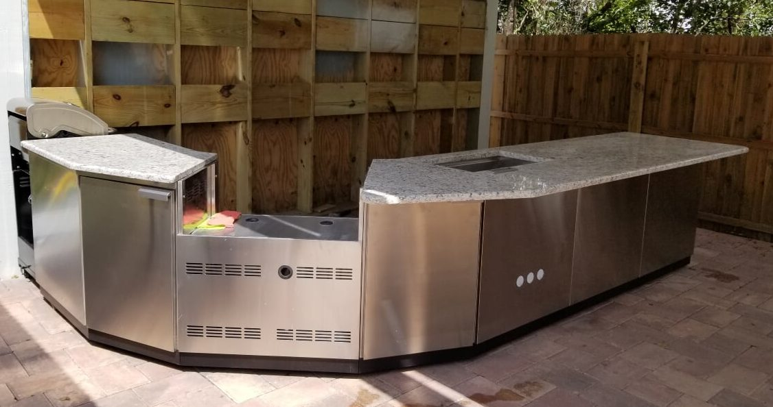 Stainless Steel and Granite Outdoor Kitchen project