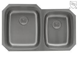 Pelican PL-vs6040 60/40 Stainless Steel Undermount Kitchen Sink