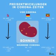 Bohnen Preisentwicklung