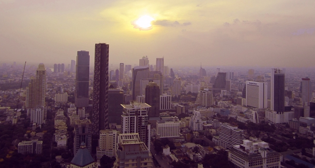 Bangkok view from the Moon bar at Banyan tree