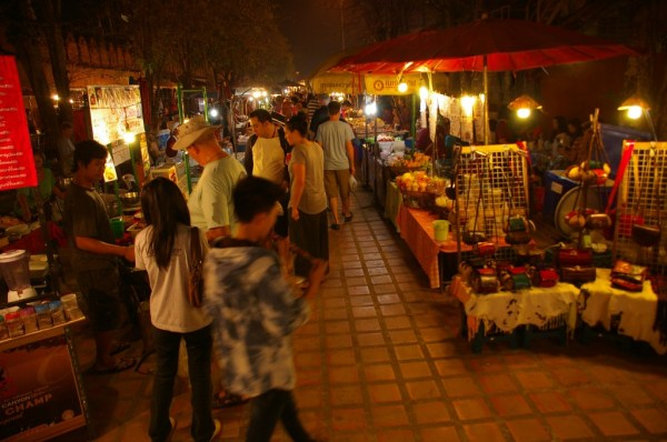 Sunday night walking market