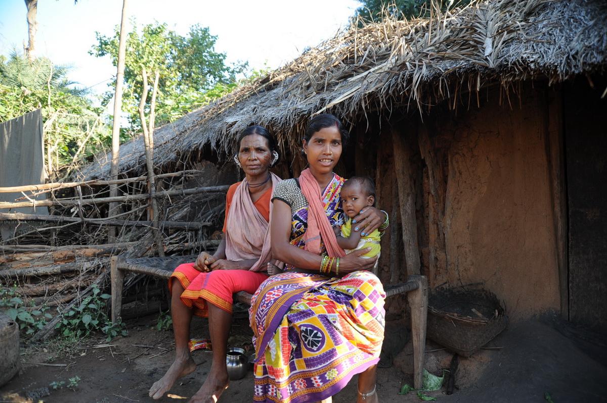 Maliah Kandh vor ihrer Hütte bei Kurtumgarh (Foto: C.M.)