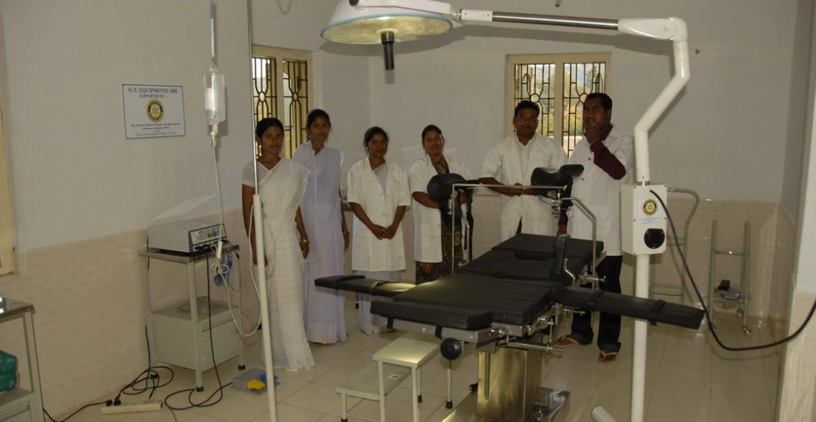 Operationssaal im Ashakiran Community Health Centre vom Rotary Club Singen finanziert (Foto: C.M.)