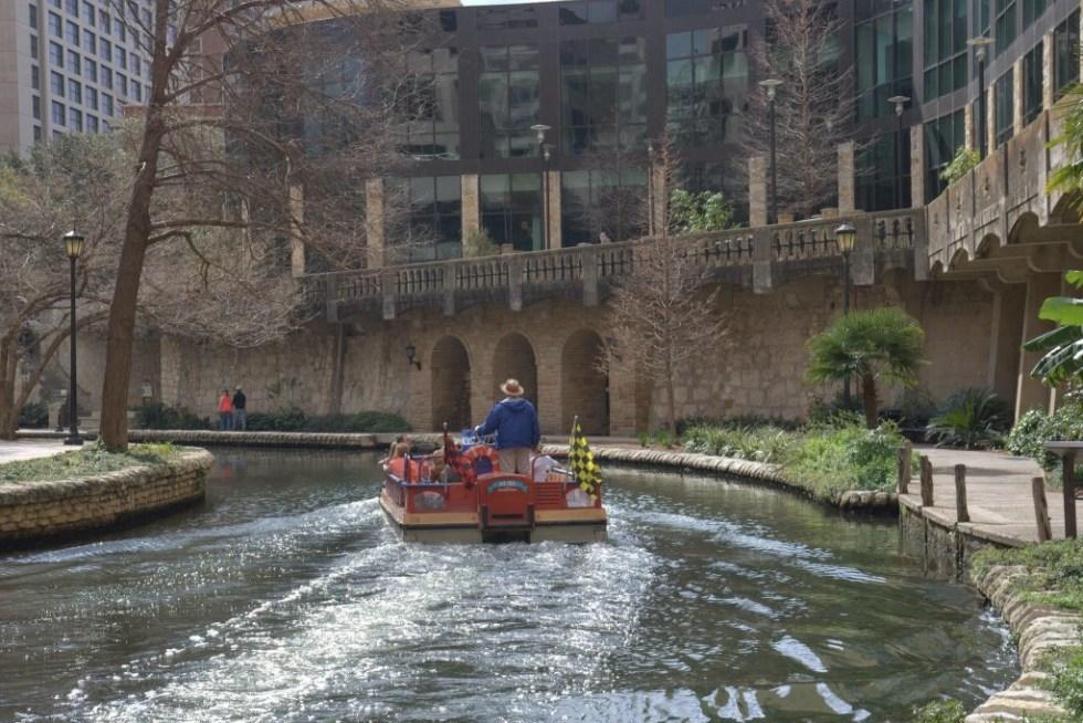 Boat on the River Walk, San Antonio