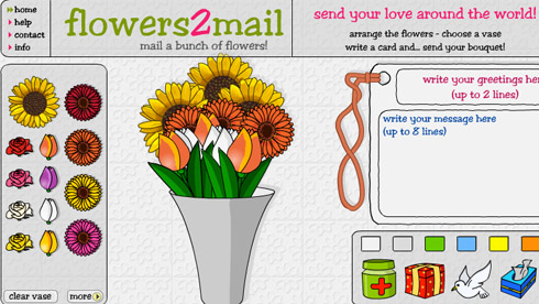 Send virtual flowers free