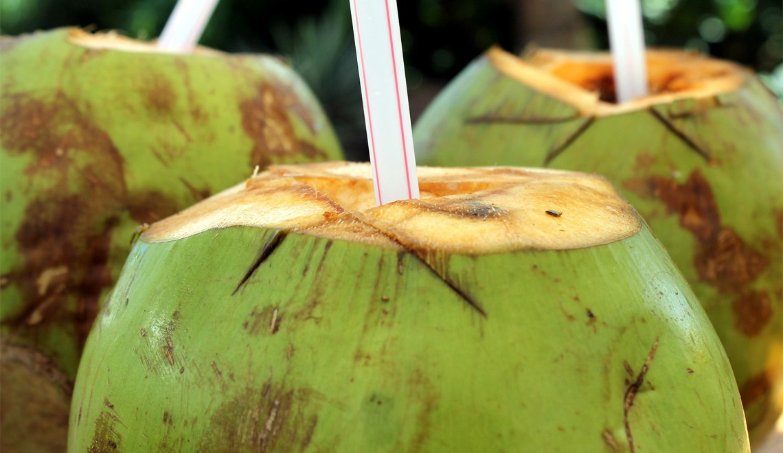 inside the coconut