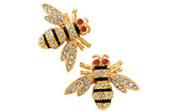 Bug-jewelry---bee-earrings