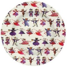 melamine plates with dancing mice
