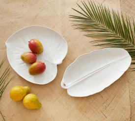 Roxy Melamine Leaf Platters