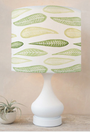 Leaf parade · lampshades minted com leaf shade sm