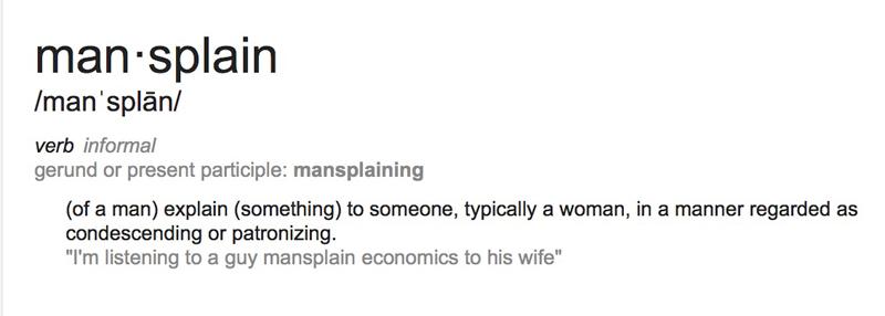 Mansplaining---definition