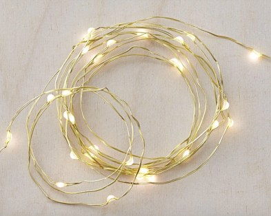 Party String Lights - Twinkle Gold String Lights Crate & barrell